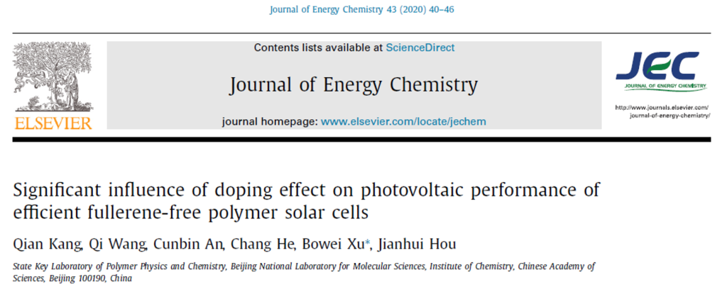 Significant influence of doping effect on photovoltaic performance of efficient fullerene-free polymer solar cells