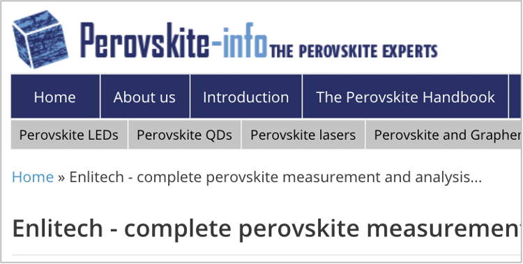 QE-R quantum efficiency system for perovskite solar cell is posted by Perovskite-infor