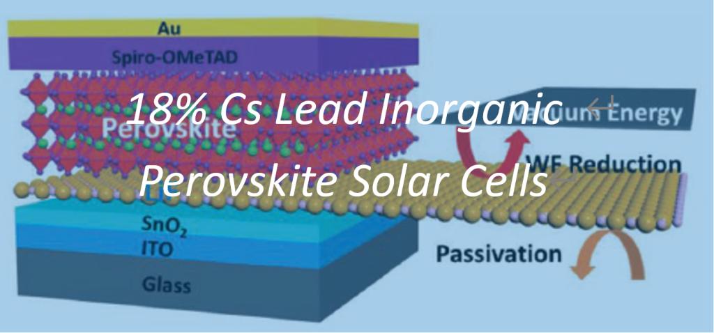 18.64% Cs Lead Inorganic Perovskite Solar Cells