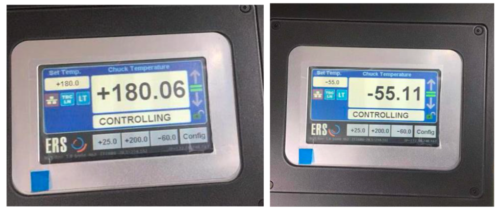 SG-O SG O CIS wafer level tester 19 Thermal chuck operating range