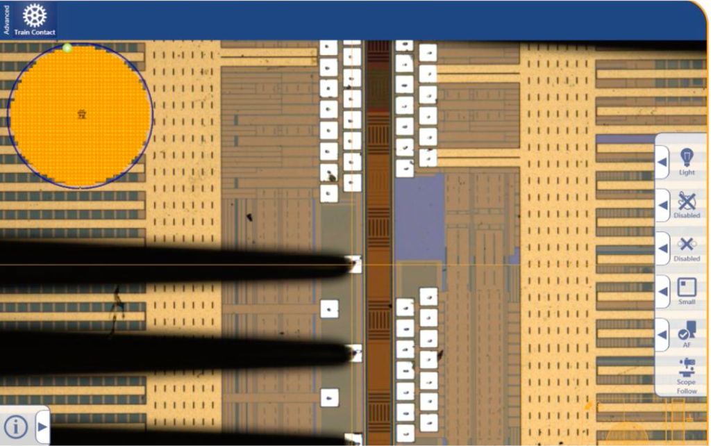 SG-O CIS/ALS/Light-Sensor wafer level tester 23_ wafer and probe card tips image