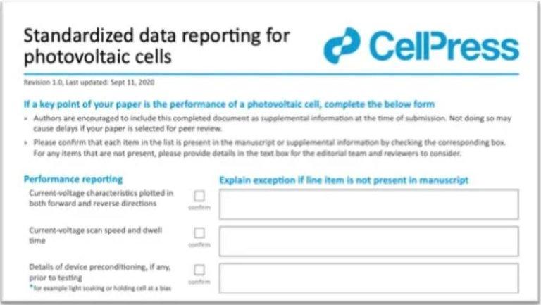 Science、Nature等頂刊發表與ISO 17025效率認證有什麼關聯? ISO 17025 效率认证 Cell Press PV Checklist 1