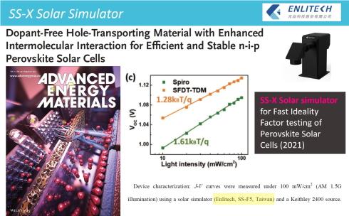 2021 Adv. Energy Mater. (IF 29.368) 高效穩定 n-i-p 鈣鈦礦太陽能電池